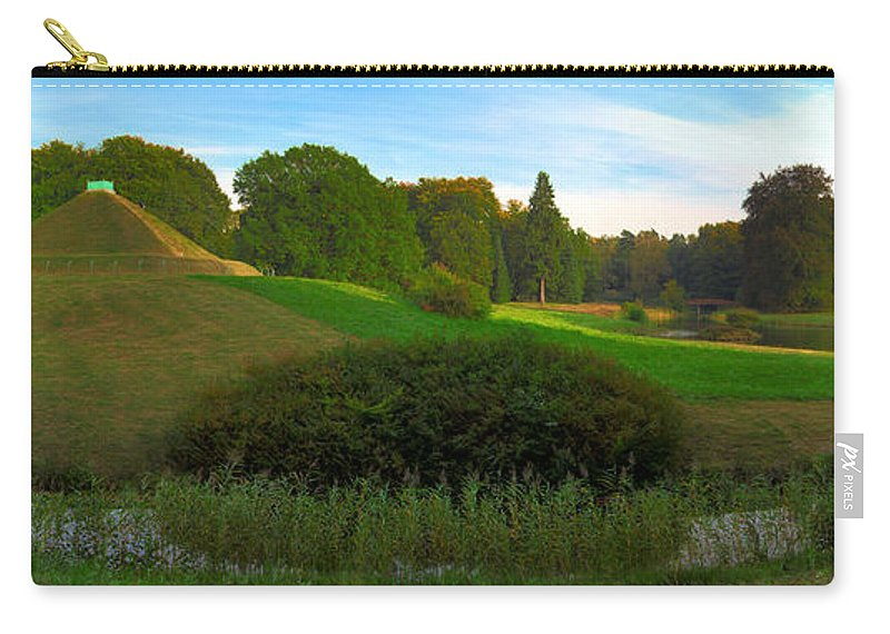 Landscape Park Carry-all Pouch featuring the photograph Pyramid In The Pueckler Park by Sun Travels