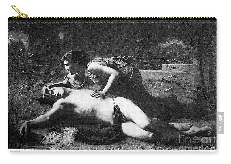 1875 Carry-all Pouch featuring the photograph Pyramus And Thisbe by Granger