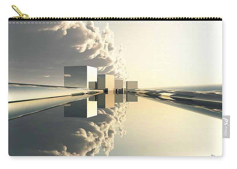 Abstractly Carry-all Pouch featuring the digital art Q-city Four by Max Steinwald
