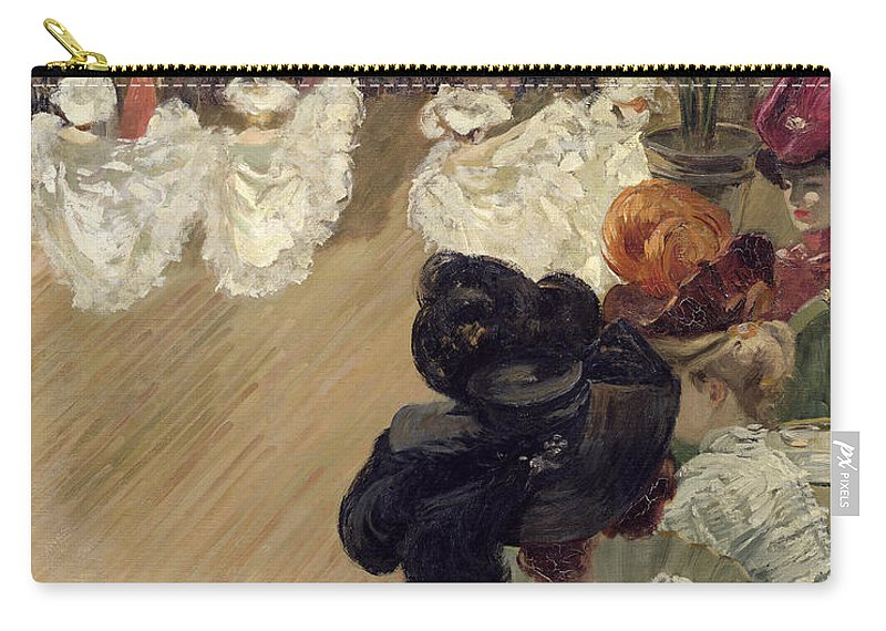 Quadrille Carry-all Pouch featuring the painting Quadrille At The Bal Tabarin by Abel-Truchet