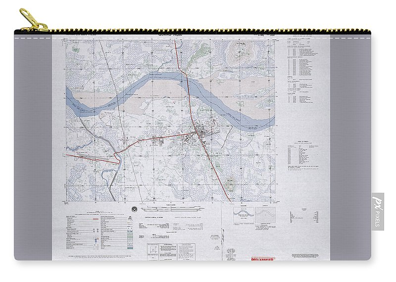 Quang Ngai Vietnam Map.Quang Ngai South Vietnam 1966 Carry All Pouch For Sale By Maps Of
