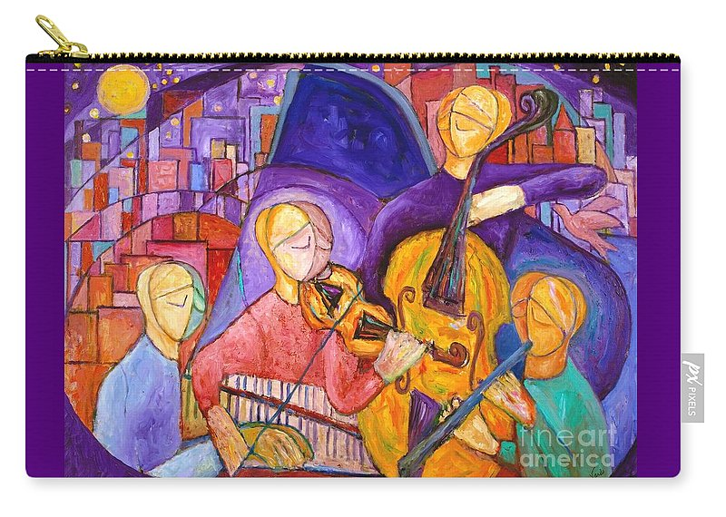 Violin Carry-all Pouch featuring the painting Quartet For The End Of Time by Lenore Vardi