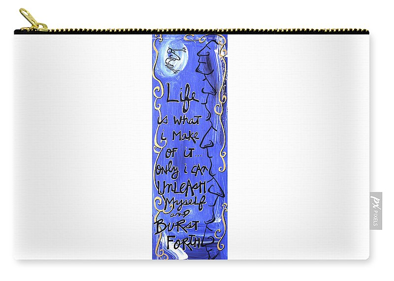 Gallery Carry-all Pouch featuring the painting Quatrain Burst by Dar Freeland