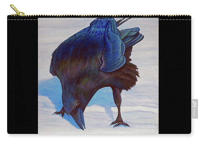 Raven Carry-all Pouch featuring the painting Que Pasa by Brian Commerford