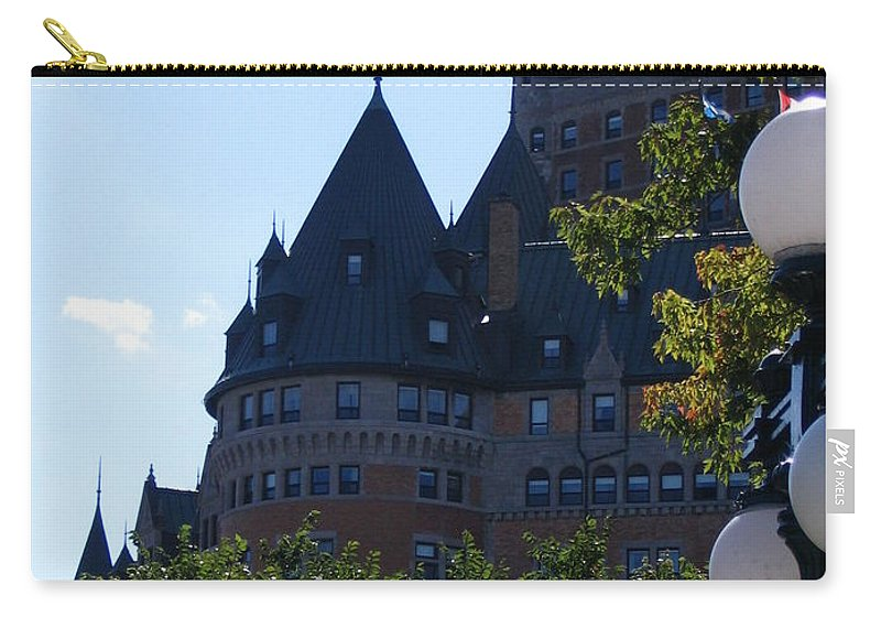 Chateau Frontenac Carry-all Pouch featuring the photograph Quebec City by Line Gagne