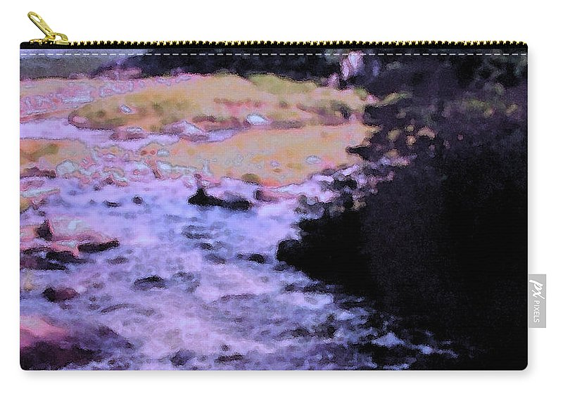 Quebec Carry-all Pouch featuring the photograph Quebec River by Ian MacDonald