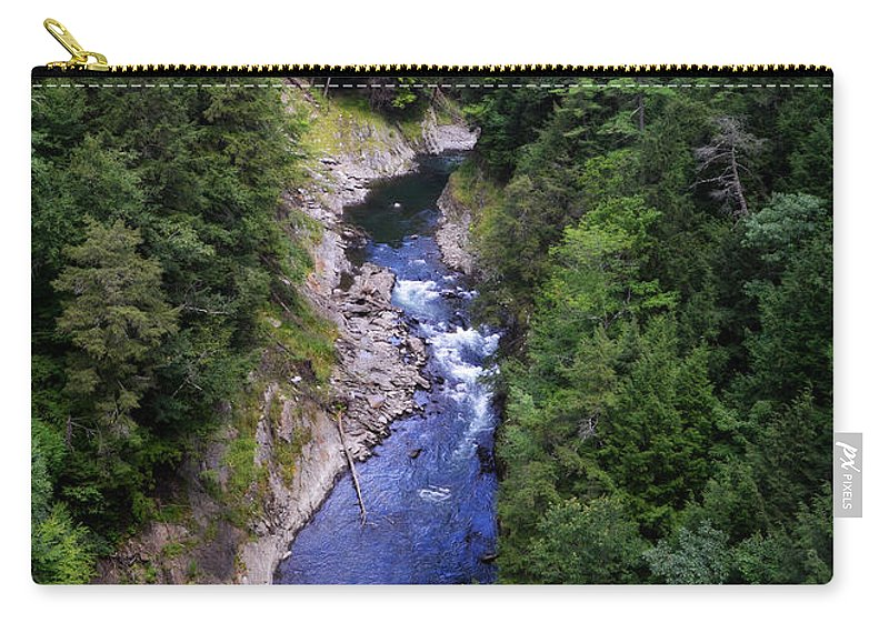 Quechee Carry-all Pouch featuring the photograph Quechee Gorge In Vermont by Catherine Sherman