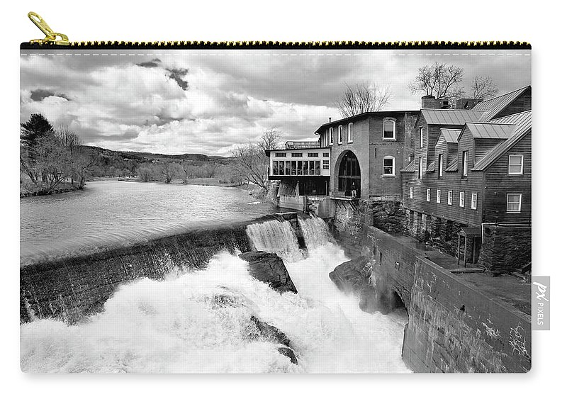 Covered Bridge Carry-all Pouch featuring the photograph Quechee's Thaw by Greg Fortier