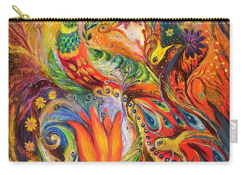 Original Carry-all Pouch featuring the painting Queen Lillie by Elena Kotliarker
