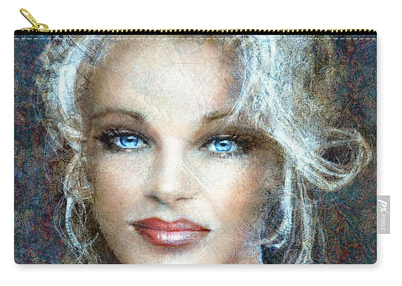 Painting Carry-all Pouch featuring the painting Queen Of Glamour Bright by Angie Braun