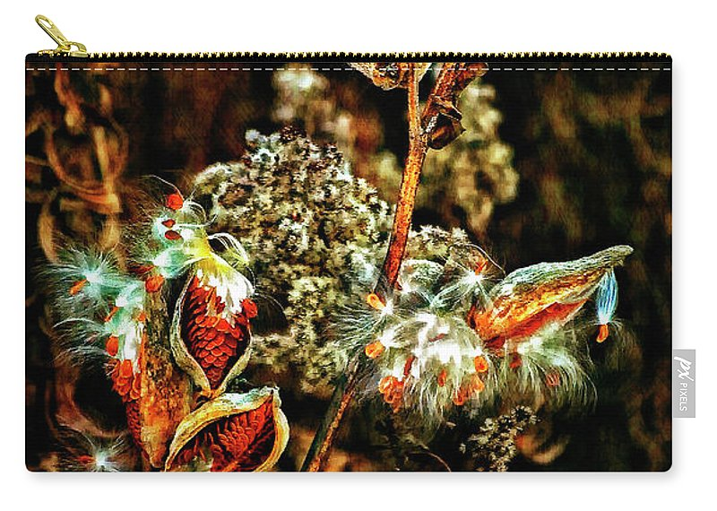 Milkweed Carry-all Pouch featuring the photograph Queen Of The Ditches II by Steve Harrington