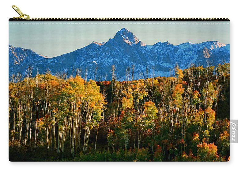 Mount Sneffels 14150ft Carry-all Pouch featuring the photograph Queen Of The San Juans by David Lee Thompson