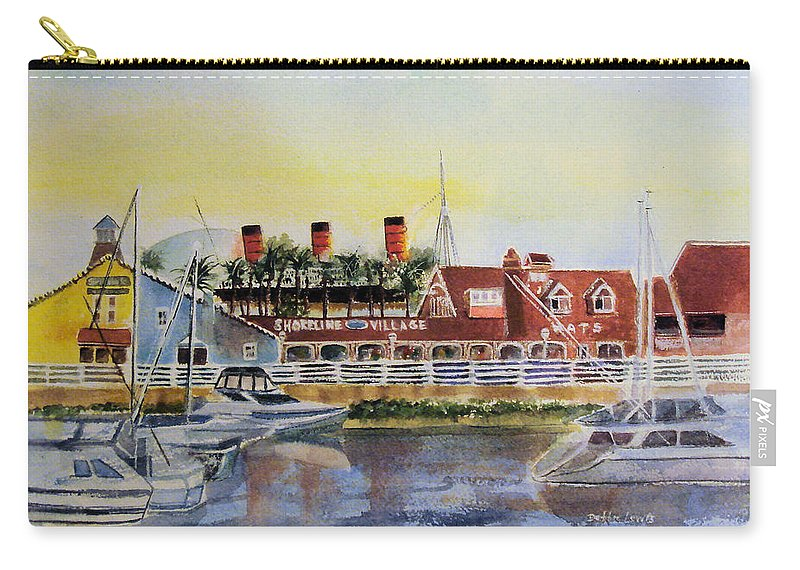 Watercolor Carry-all Pouch featuring the painting Queen Of The Shore by Debbie Lewis
