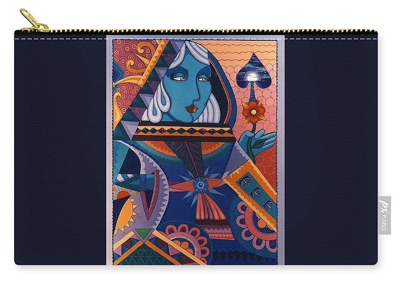 Portrait Carry-all Pouch featuring the painting Queen by Richard Laeton