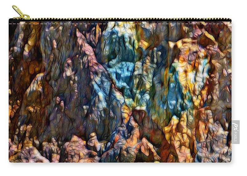 Queenstown Carry-all Pouch featuring the digital art Queenstown-dm by Bruce