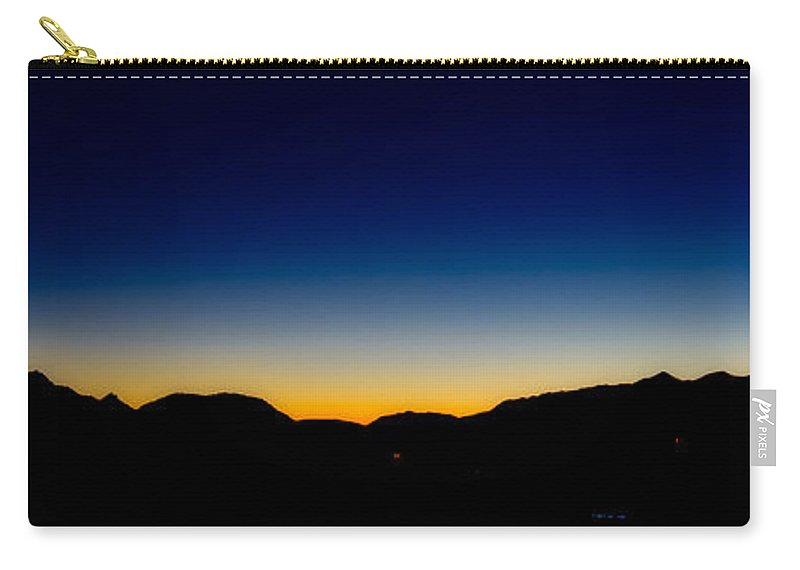 Queenstown Nz Carry-all Pouch featuring the photograph Queenstown Nz Mountains Silhouette by Charles King