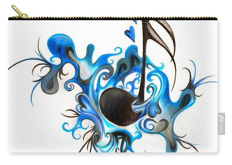 Music Carry-all Pouch featuring the photograph Quenched by Music by Artist RiA