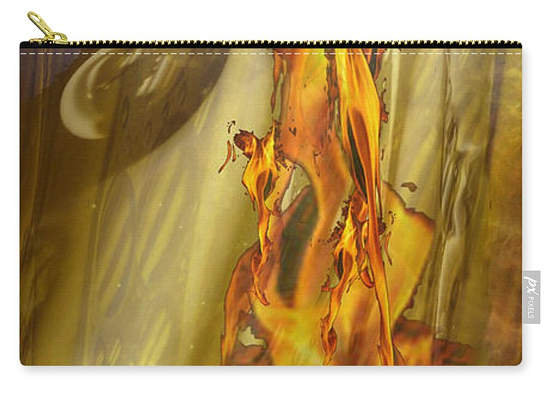 Surreal Landscape Carry-all Pouch featuring the photograph Quenching Fire by Mykel Davis