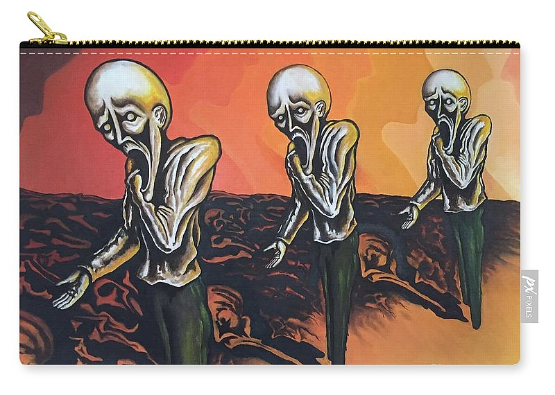 Tmad Carry-all Pouch featuring the painting Question To Wonder by Michael TMAD Finney