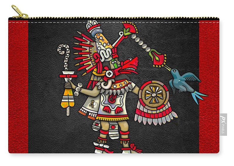 �treasures Of Mesoamerica� By Serge Averbukh Carry-all Pouch featuring the photograph Quetzalcoatl - Codex Magliabechiano by Serge Averbukh