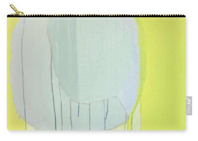 Abstract Carry-all Pouch featuring the painting Quien Esta? by Claire Desjardins