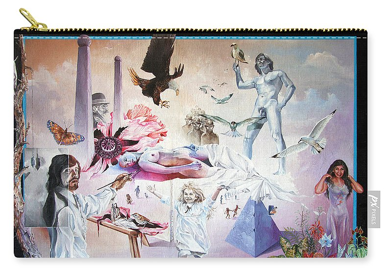Surrealism Carry-all Pouch featuring the painting Quiet Afternoon At The Studio by Otto Rapp
