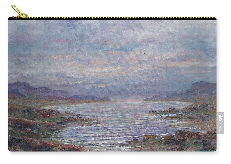 Painting Carry-all Pouch featuring the painting Quiet Bay. by Leonard Holland