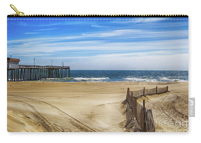 Ocean City Carry-all Pouch featuring the photograph Quiet Day On The Beach by Dawn Gari