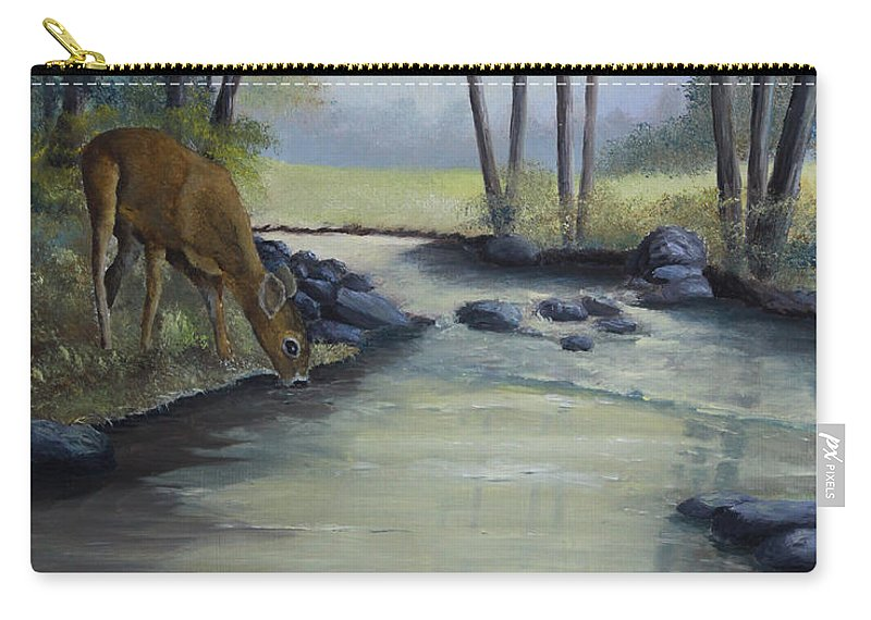 Landscape Carry-all Pouch featuring the painting Quiet Moments by Johanna Lerwick