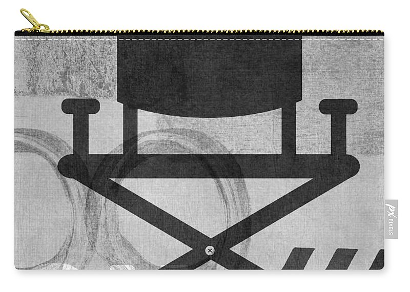 Movie Carry-all Pouch featuring the digital art Quiet On Set- Art by Linda Woods by Linda Woods