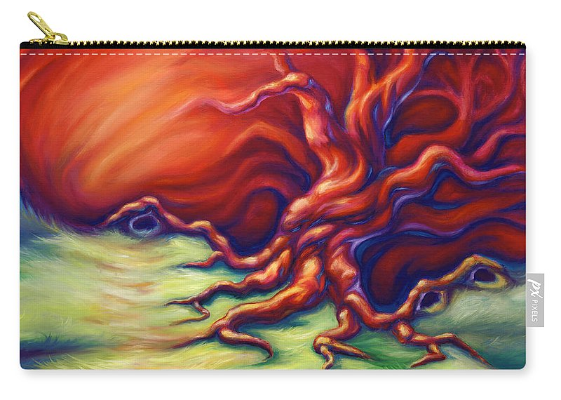 Oil Painting Carry-all Pouch featuring the painting Quiet Place by Jennifer McDuffie