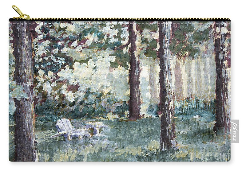 Landscape Carry-all Pouch featuring the painting Quiet Place by Todd Blanchard