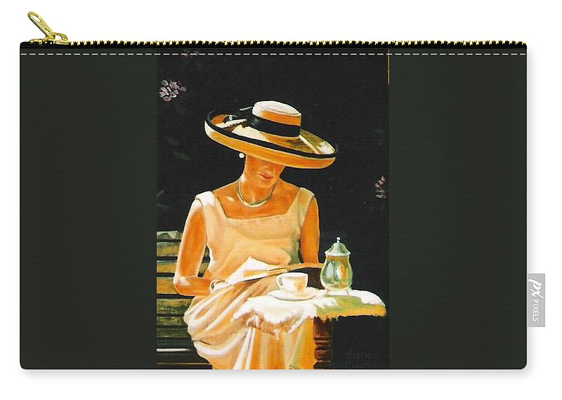 Tea Cup Carry-all Pouch featuring the painting Quiet Time by Keith Gantos