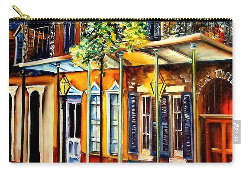New Orleans Carry-all Pouch featuring the painting Quiet Vieux Carre by Diane Millsap