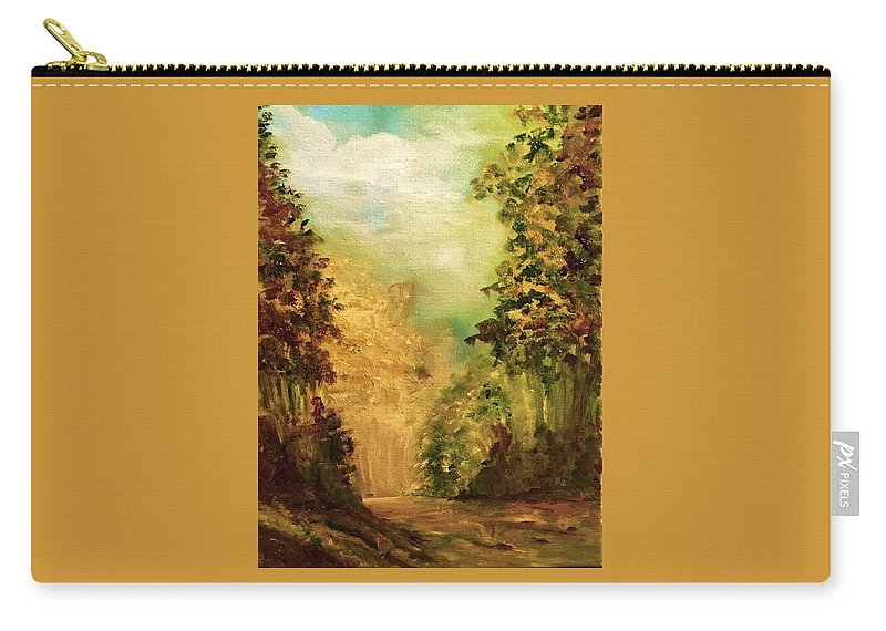 Nature Carry-all Pouch featuring the painting Quiet Walk by Laurine Baumgart