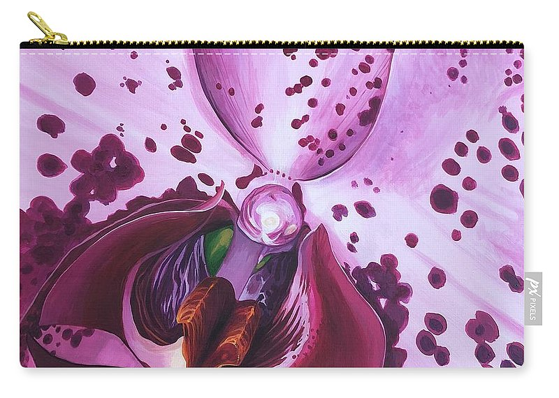 Phaleonopsis Carry-all Pouch featuring the painting Quiet World by Hunter Jay