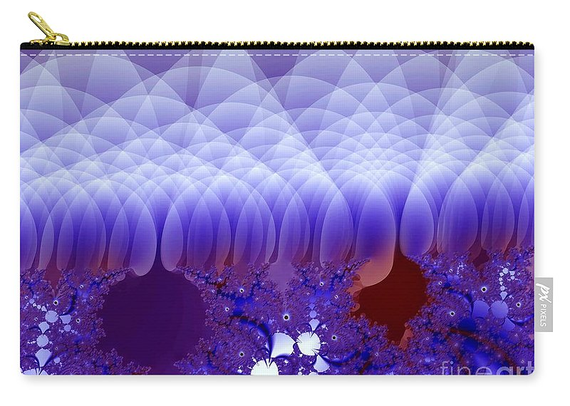 Fractal Image Carry-all Pouch featuring the digital art Quilted Blue by Ron Bissett