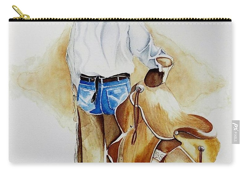 Boots Carry-all Pouch featuring the painting Quittin Time by Jimmy Smith