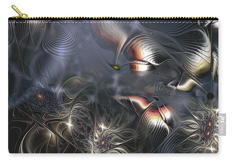 Abstract Carry-all Pouch featuring the digital art Quixotic Cerebrations by Casey Kotas