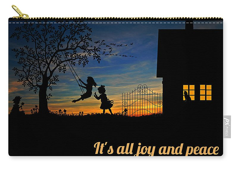 Landscape Carry-all Pouch featuring the photograph Quote2 by Rachael Samson