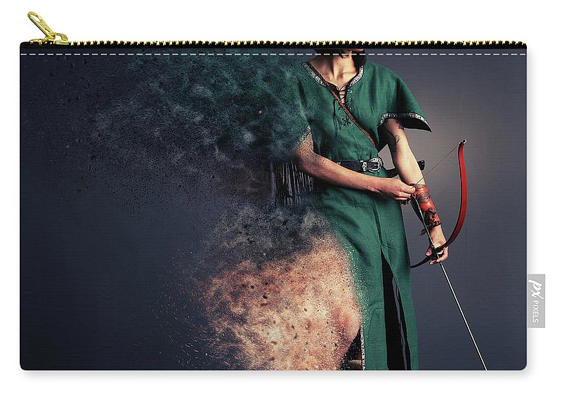 Robin Hood Carry-all Pouch featuring the photograph R O B Y N - H U D by Smart Aviation