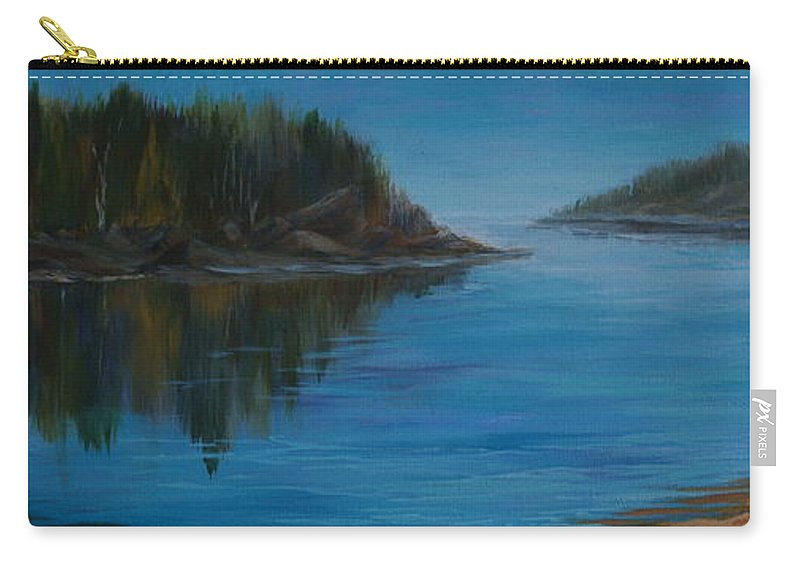 Lake Carry-all Pouch featuring the painting Rabbit Blanket Lake by Joanne Smoley
