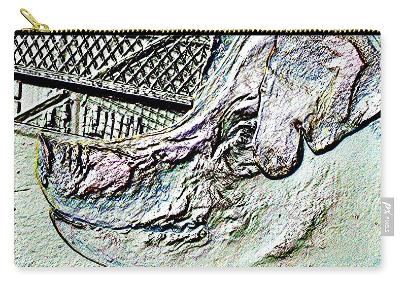 Seattle Carry-all Pouch featuring the photograph Rachael The Market Pig by Tim Allen