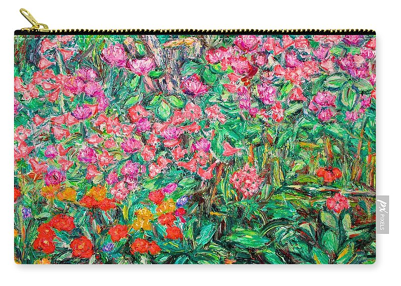 Kendall Kessler Carry-all Pouch featuring the painting Radford Flower Garden by Kendall Kessler