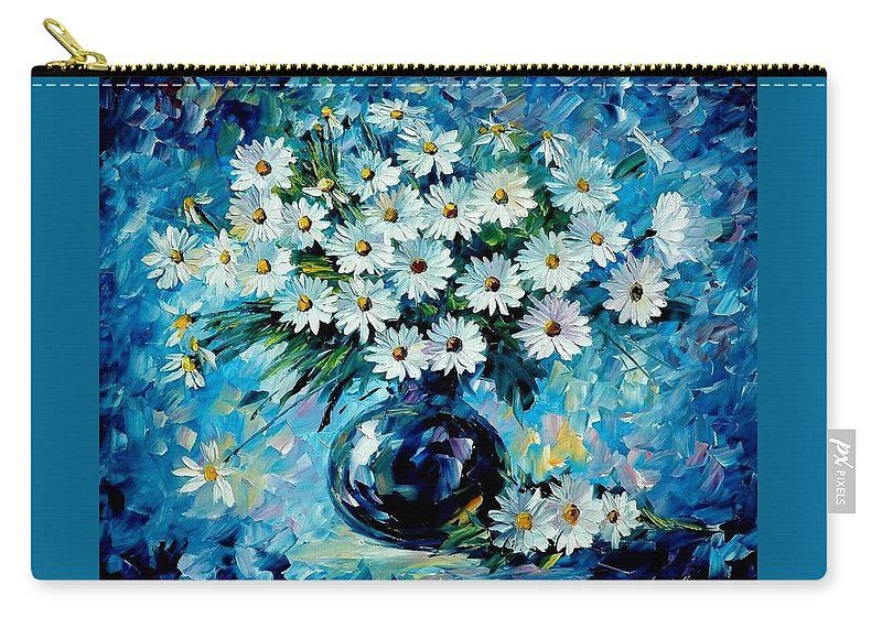 Floral Carry-all Pouch featuring the painting Radiance by Leonid Afremov