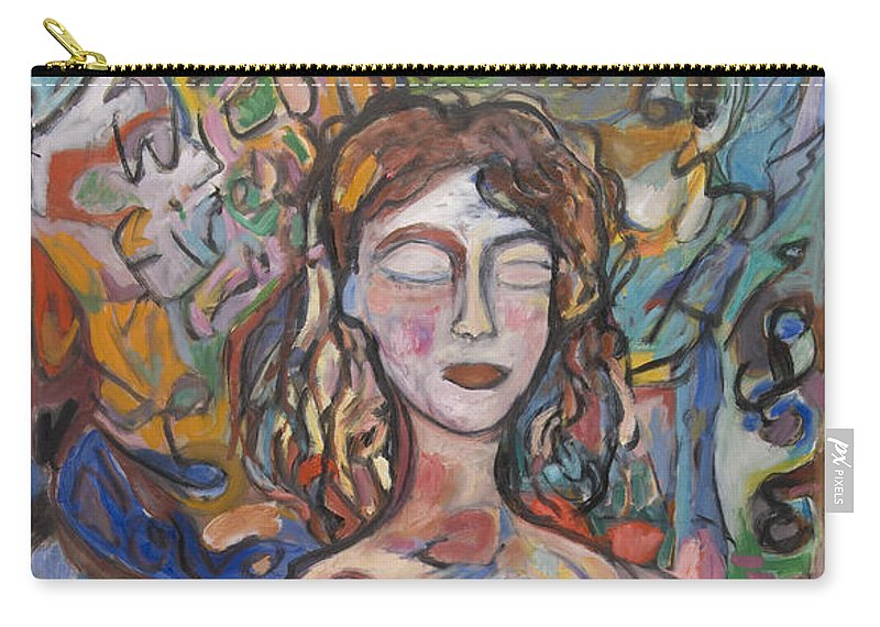 Oil Carry-all Pouch featuring the painting Radiance by Mykul Anjelo