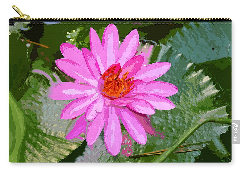 Flower Carry-all Pouch featuring the painting Radiant Pink by David Lee Thompson