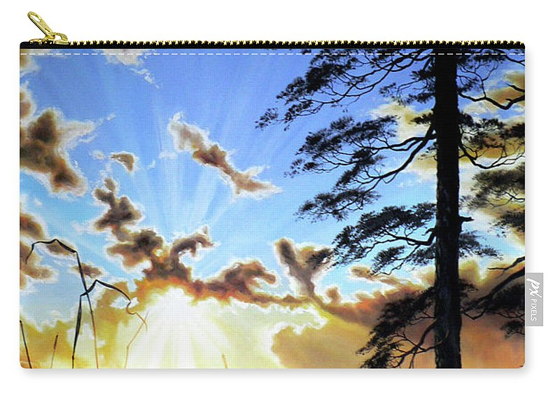 Sunrise Carry-all Pouch featuring the painting Radiant Reflection by Hanne Lore Koehler