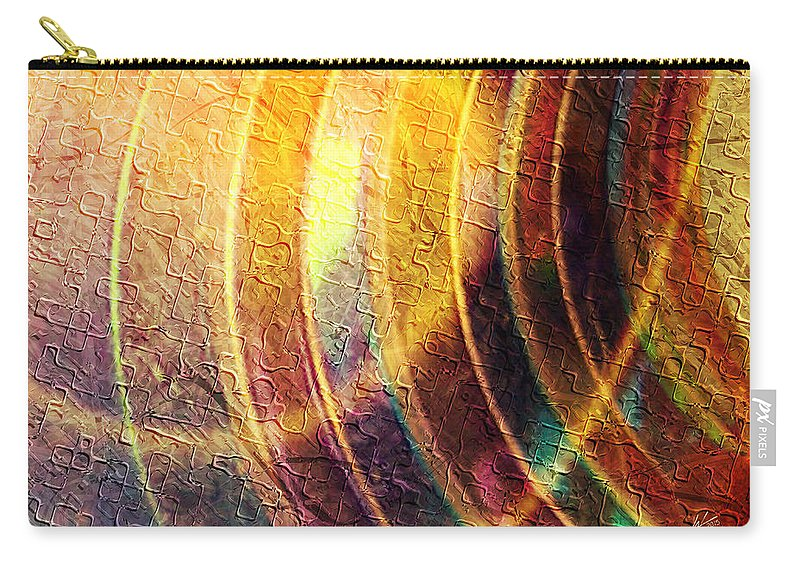 This Is A Mixed Media Artwork Consisting Of A Combination Of Fractal Carry-all Pouch featuring the digital art Radiate by Kiki Art
