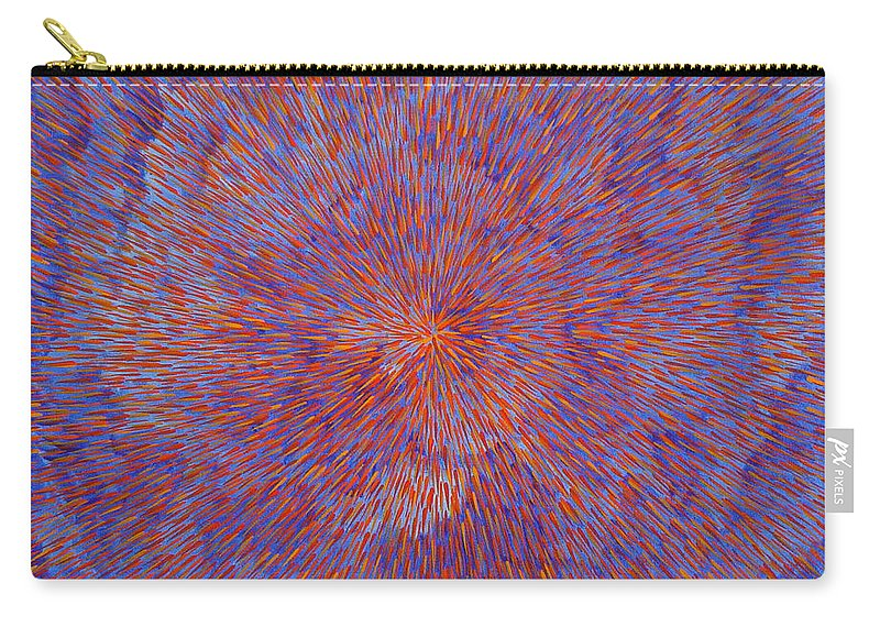 Abstract Carry-all Pouch featuring the painting Radiation With Blue And Red by Dean Triolo